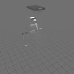 Modern shower parts on