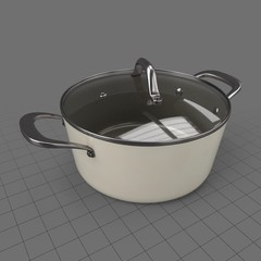 Large saucepan with lid