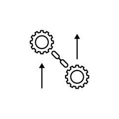 big data, gear, arrow icon. Element of data analysis icon for mobile concept and web apps. Detailed big data, gear, arrow icon can be used for web and mobile