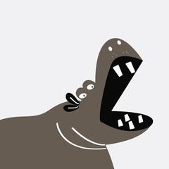 Cute hippopotamus cartoon vector design
