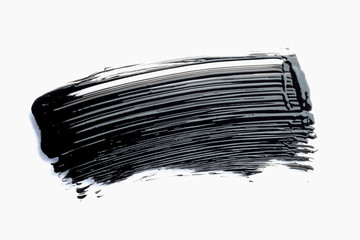 mascara texture with white background
