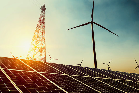 clean energy power in nature concept