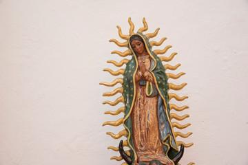 virgen de guadalupe, patrona de mexico, borados y figuras religiosas