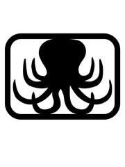 button logo oktopus krake kopffüßer kalmar tentakel tintenfisch unterwasser monster comic cartoon clipart lustig design meer wasser tauchen fisch