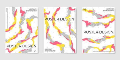 Covers templates set with trendy elements and geometric objects.