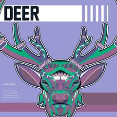 Deer head illustration - Vector