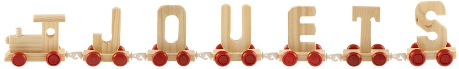 train jouets, fond blanc