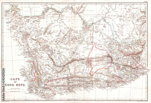 1860, Blackie Map of the Cape of Good Hope\