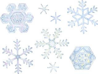 雪の結晶 セット素材