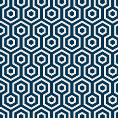 Seamless Japanese pattern with tortoiseshell motif vector