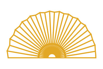 chinece golden fan