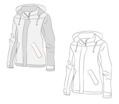 isolated sketch jacket