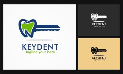 key dental care icon vector logo