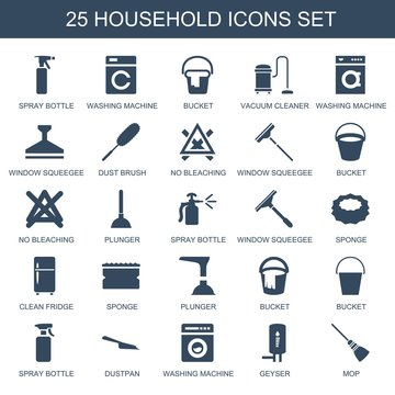 25 household icons
