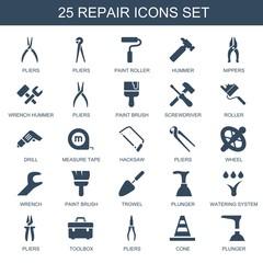 25 repair icons