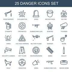 25 danger icons