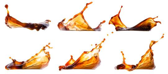Fototapeta Splash coffee or cola