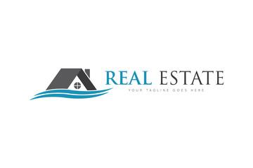 Real estate logo and icon vector design template