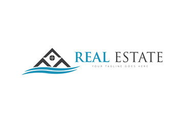 Real estate logo and icon vector design template