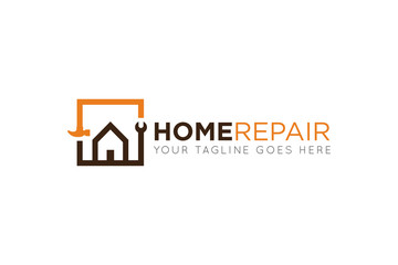 home repair logo and icon vector design template