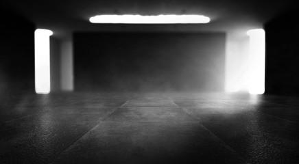 Background of an empty dark-black room.