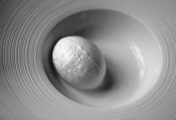 Macro photo of delicious sweet coconut ice cream