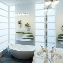 Contemporary Bathroom Design (detail)