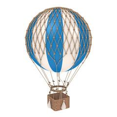 Vintage Hot Air Balloon Isolated