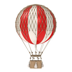 Vintage Hot Air Balloon Isolated