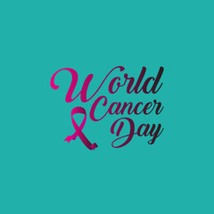 World Cancer Day Vector Template Design Illustration