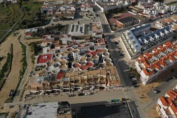 Zahara de los Atunes in Andalusien aus der Luft