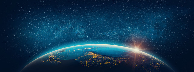 Wall Mural - Planet Earth - Asia. Elements of this image furnished by NASA