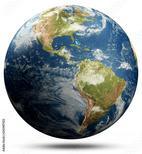 Wall mural Planet Earth - North and South America