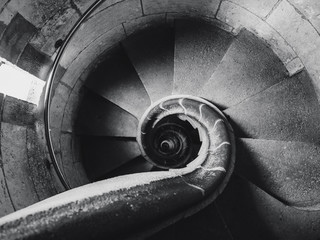 Spiral staircase old Architecture detail Abstract background