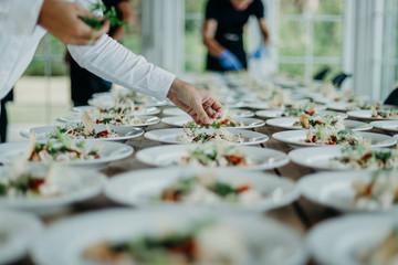 Obraz Preparing the wedding reception - fototapety do salonu