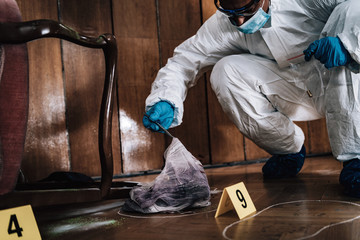 Forensic Investigator Collecting Evidence