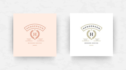 Elegant luxury brand logo design template vector illustration.