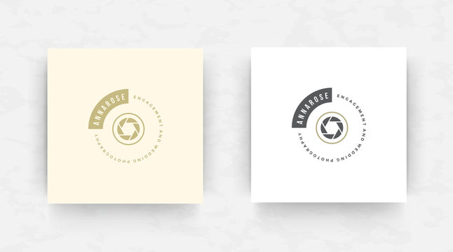 Elegant luxury brand logo design template vector illustration.