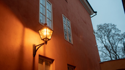 Street lamp outside of the old marketplace in Turku.