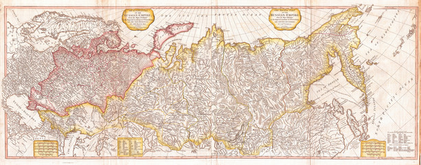 1794, Laurie and Whittle Wall Map of Russia, 1794 - 1812