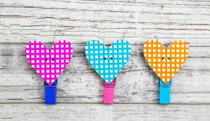 Colored Heart Curlers