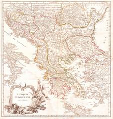 1752, Vaugondy Map of Greece, Macedonia and Albania