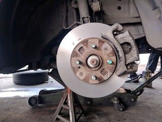 Disk Brake after turning by Lathe Machine,Repair Disk Brake by machine