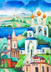 "Ancient church in ""Pereyaslavl-zalessky"","