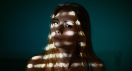 Girl's portrait with soft lights, beauty