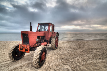 An old soviet tractor