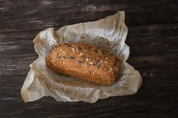 chrono bread on dark wooden table