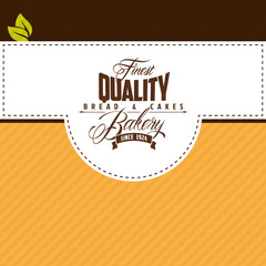 Vector bakery flat label template for fresh bread
