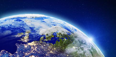 North Europe city lights