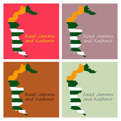 Azad Kashmir (Province of Pakistan, Islamic Republic of Pakistan, Administrative units and Districts of Pakistan) map vector illustration, Azad Jammu and Kashmir (AJK) map